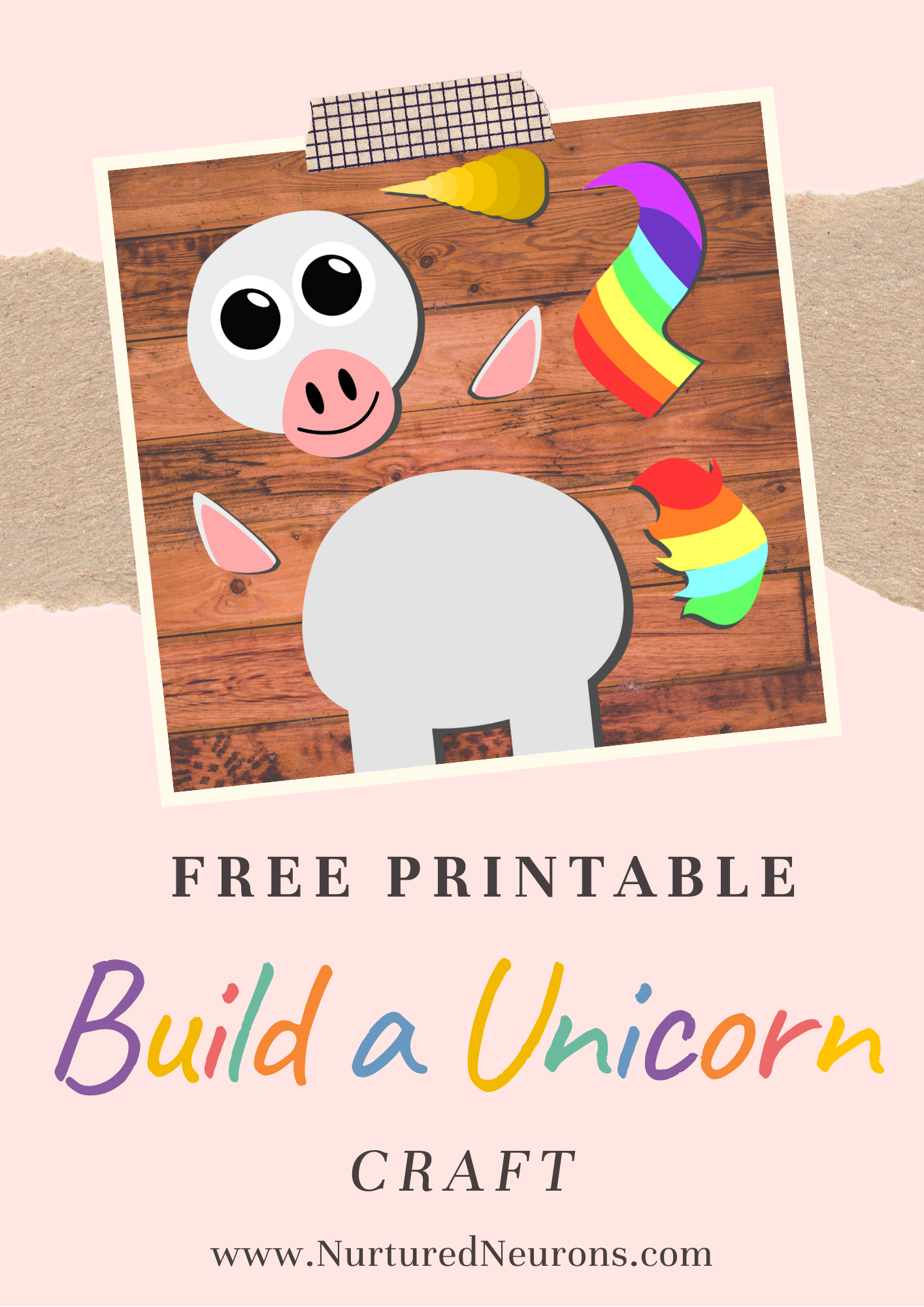 Build A Unicorn Craft Free Printable