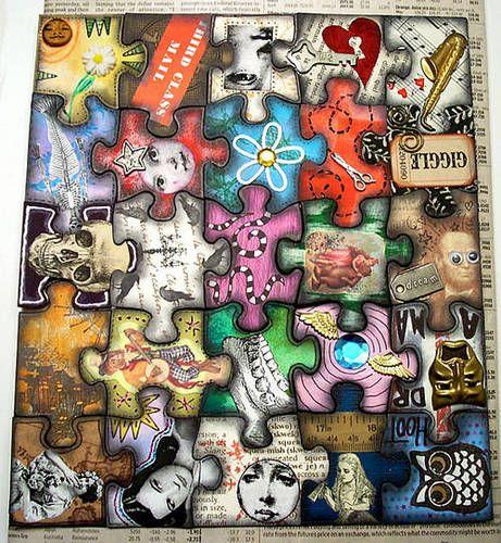 Puzzle piece art