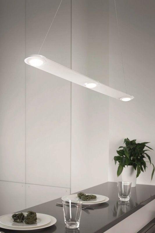 Fabas Luce Swan LED Pendelleuchte weiss Pendelleuchten