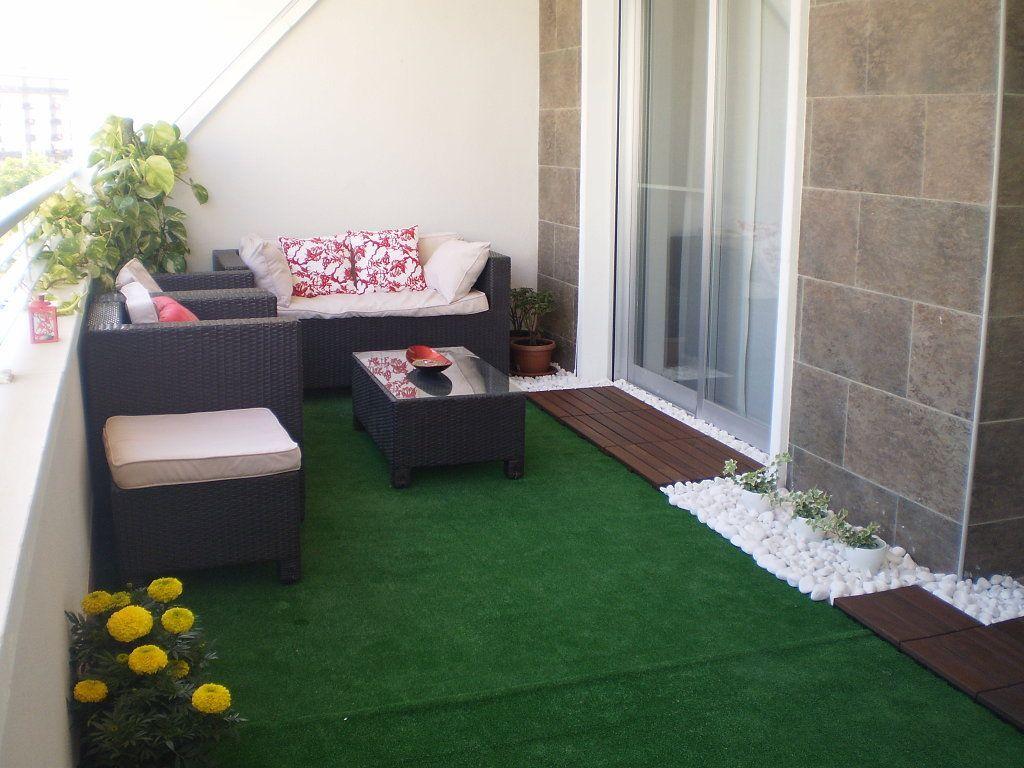 disfruta como nunca de tu terraza con este genial tip para decorar terrazas decoracin - Terrazas Con Cesped Artificial