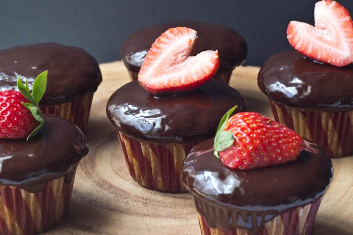 Chocolate covered strawberry cupcakes are just like the classic dessert, but in cake form.