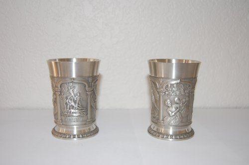 Tumasek Pewter Malaysia Pair Of Cups By Tumasek Pewter