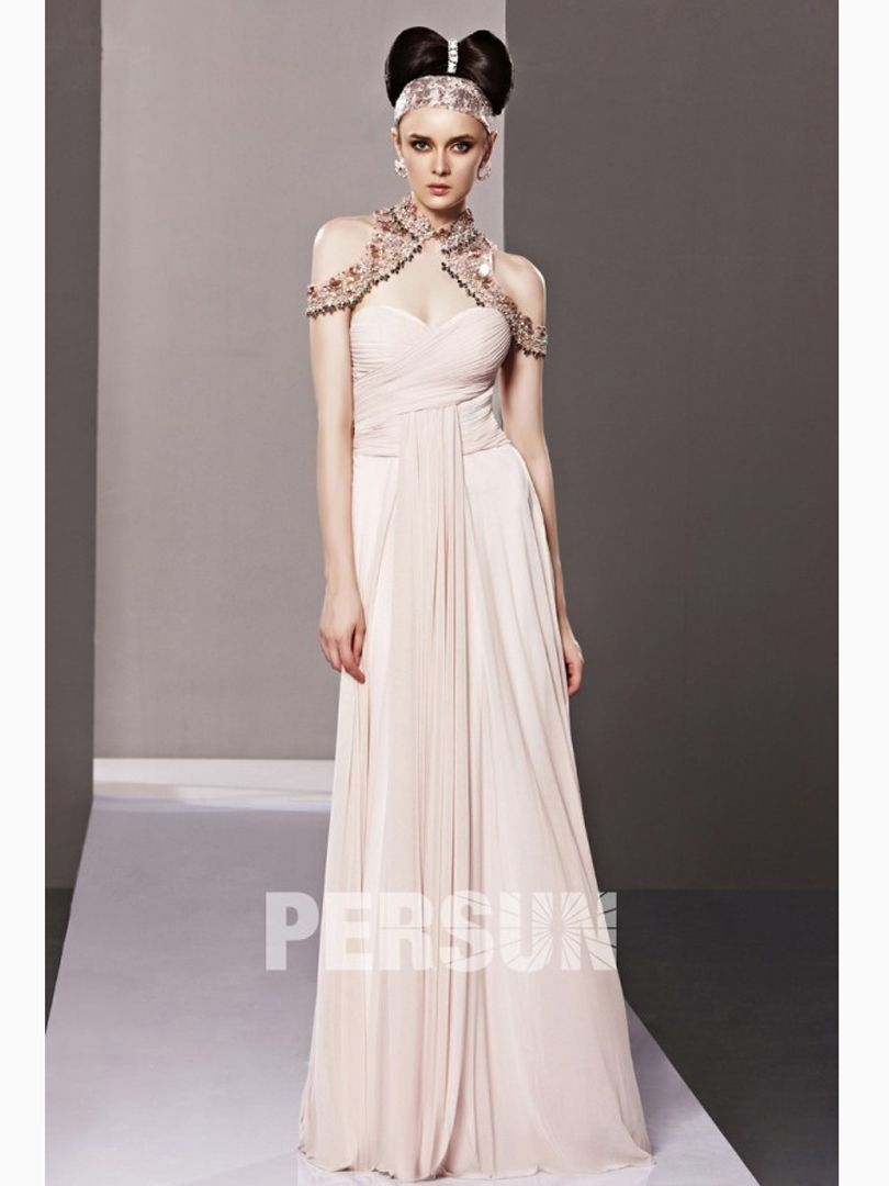 Brilliant aline one shoulder sleeveless chiffon floor length