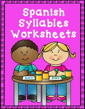 spanish syllables worksheets pre k syllable teaching spanish learning spanish. Black Bedroom Furniture Sets. Home Design Ideas