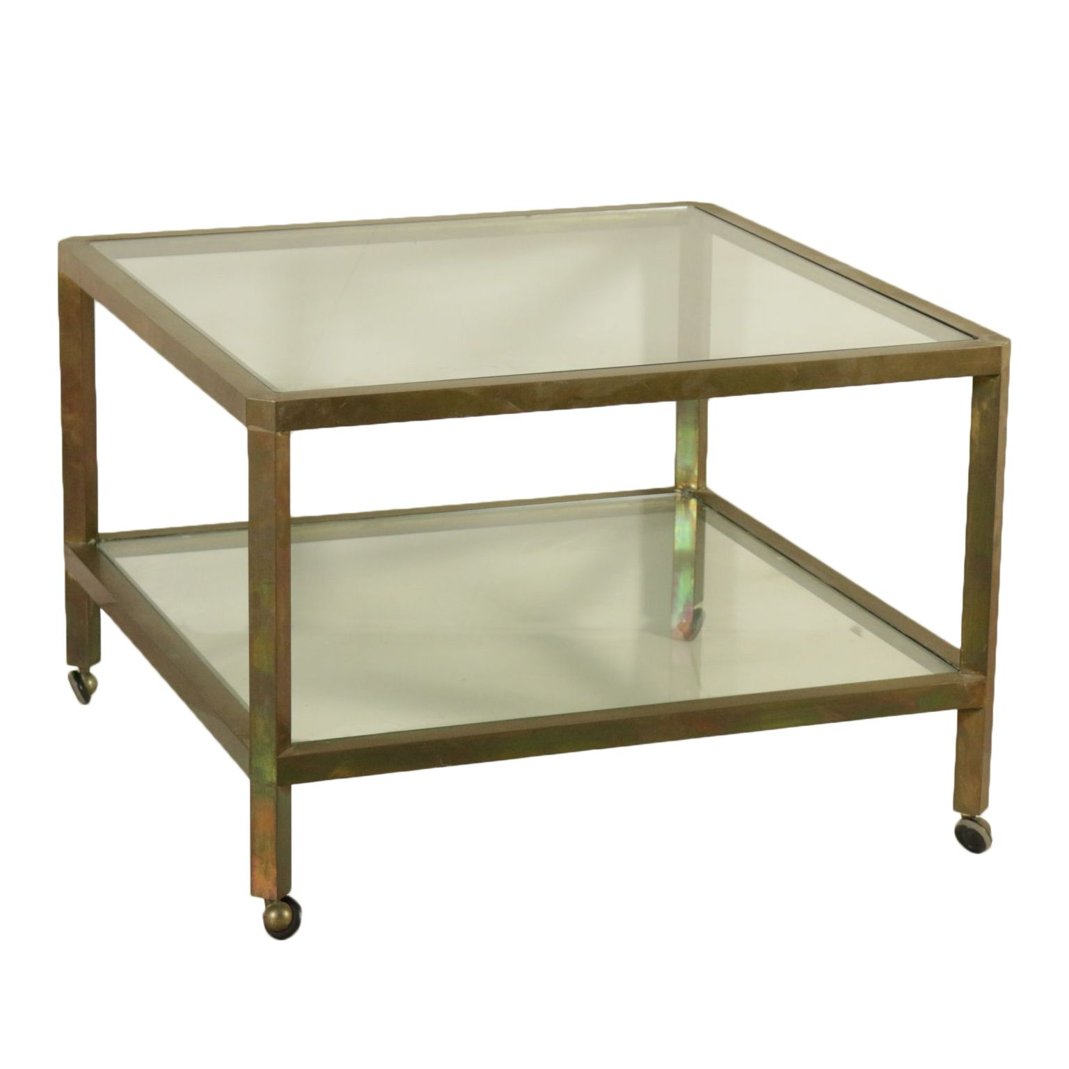 Coffee Table Brass Glass Vintage Manufactured In Italy 1960s Table Basse En Laiton Deco Table Basse Rectangulaire