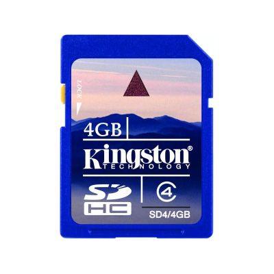 Kingston Tarjeta #SDHC 4GB Clase 4;  dan un nuevo significado a los conceptos de Rendimineto y Capacidad. Las tarjetas de memoria Secure Digital High-Capacity (SDHC) de Kingston Technology son totalmente compatibles con las nuevas especificaciones técnicas 2.00 de la Secure Digital Association... En   http://www.opirata.com/kingston-tarjeta-sdhc-clase-p-14925.html