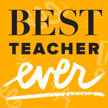 All teachers deserve to have their names in lights. Thank your #bestteacherever.