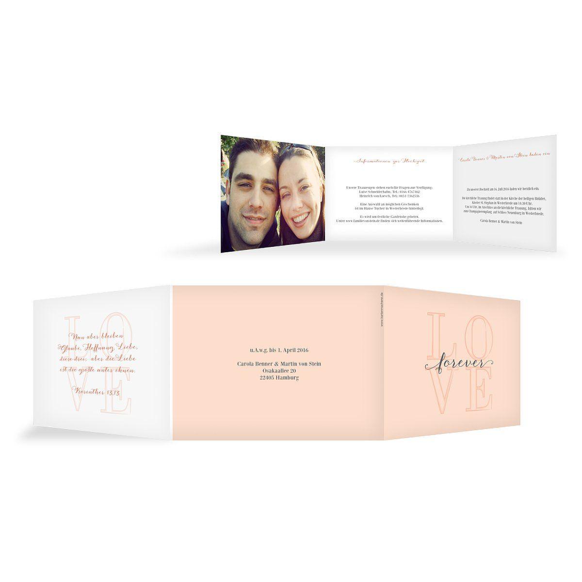 """Hochzeitseinladung """"Forever Love"""""""