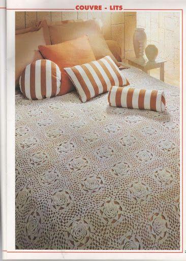 مفارش اسره كبيره Cubrecamas En Crochet Tapetes Para Mesa Colchas Tejidas
