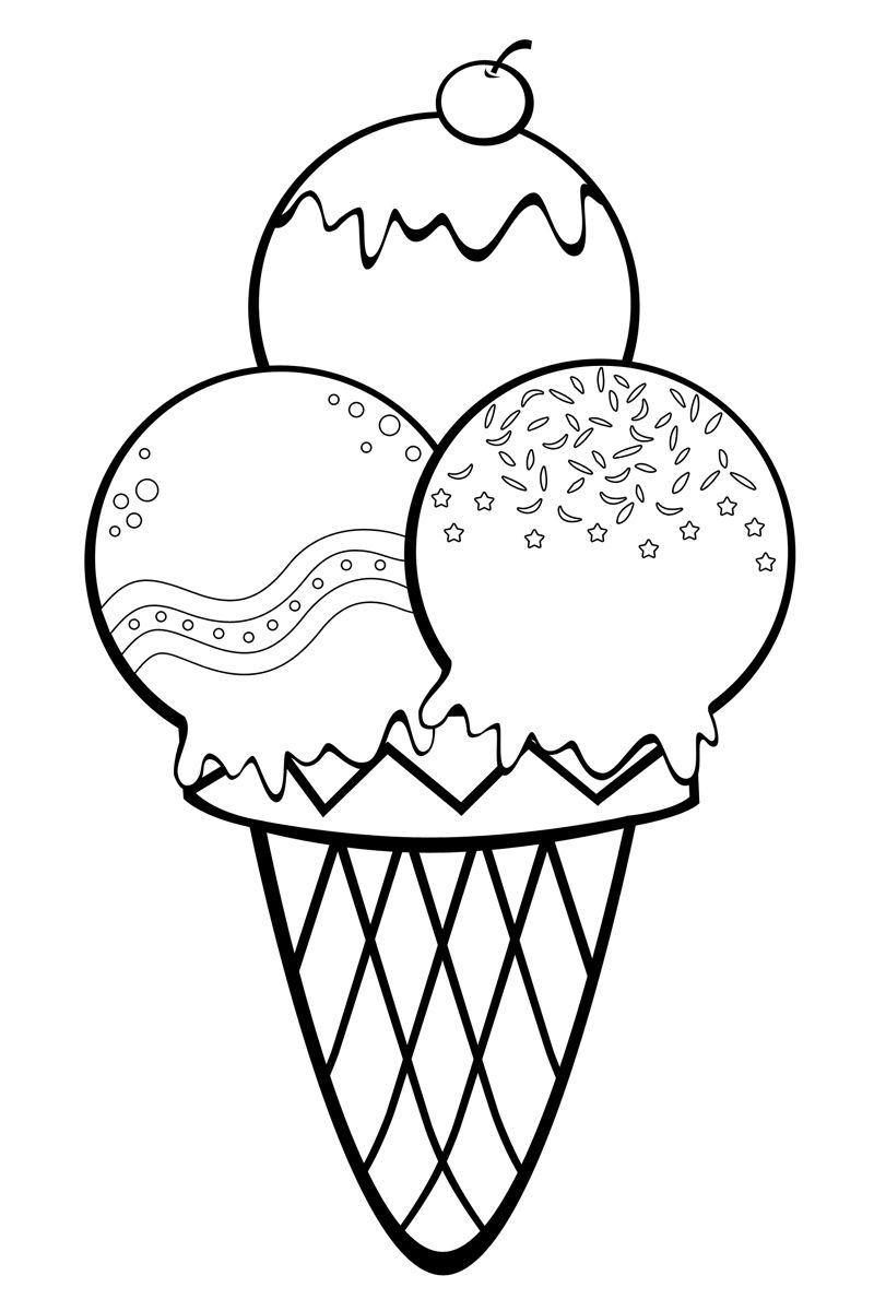 Картинки мороженого для детей распечатать