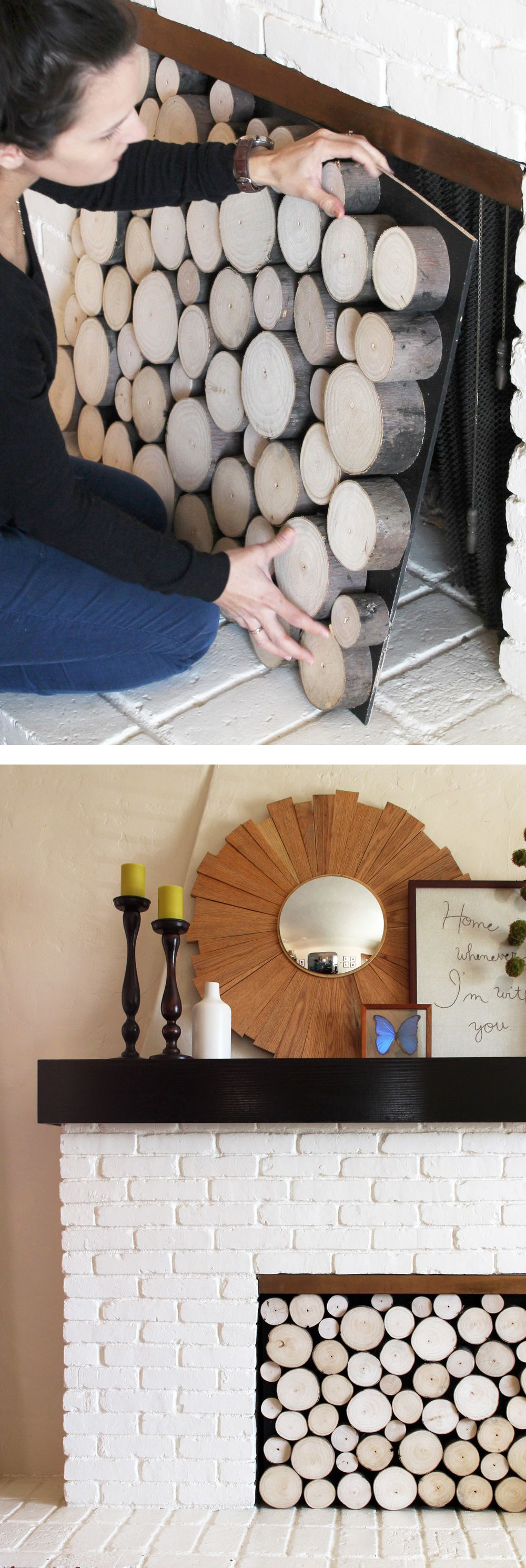 DIY Projects: Insulated Fireplace Cover Tutorial | Home Projects ...