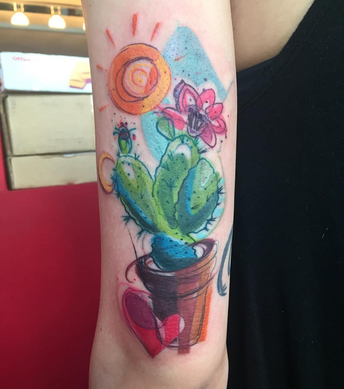 Pin By Megan On Tattoos Cactus Tattoo Damask Tattoo