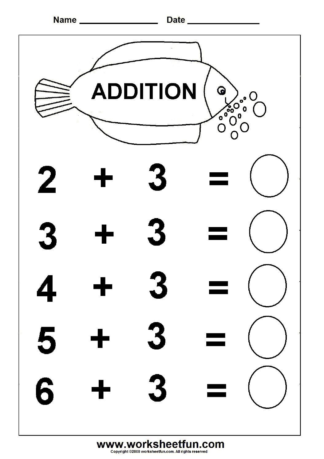 2 Worksheet Maths Activity Sheets Addition Addition
