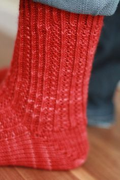 Photo of Red Hot Socks pattern by Anne-Marie Kavulla