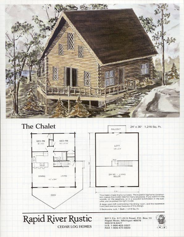 Rapid River Rustic Cedar Log Homes Chalet Floor Plans – Cedar Log Home Floor Plans