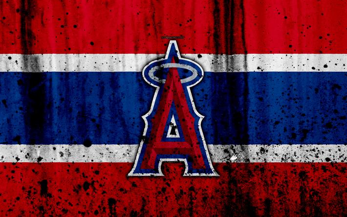 Download wallpapers 4k, Los Angeles Angels, grunge