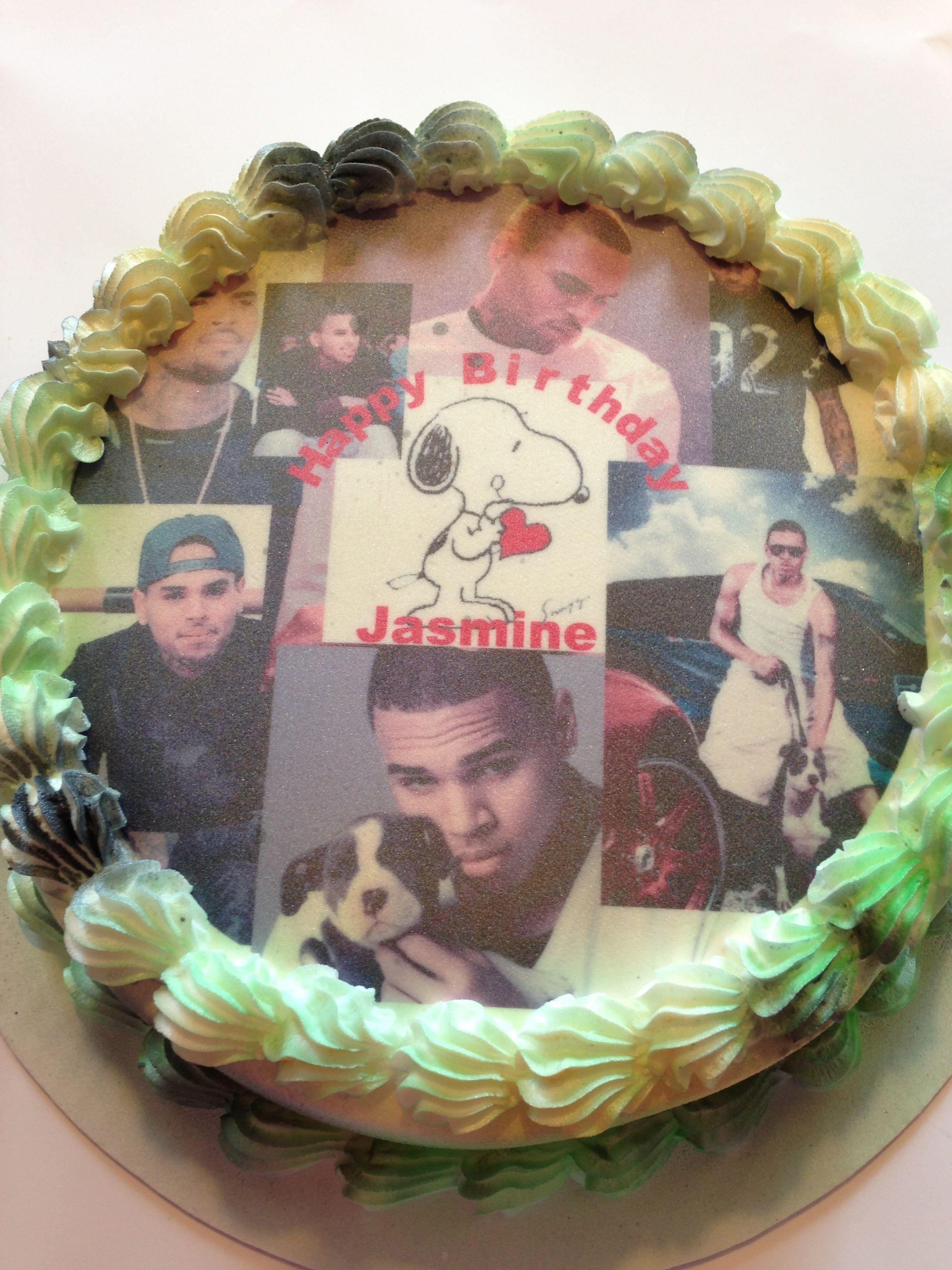 Tremendous My Baby Girls Birthday Cake I Luv U Jazz Chris Brown Personalised Birthday Cards Veneteletsinfo