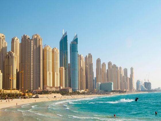 View from the Jumeirah beach