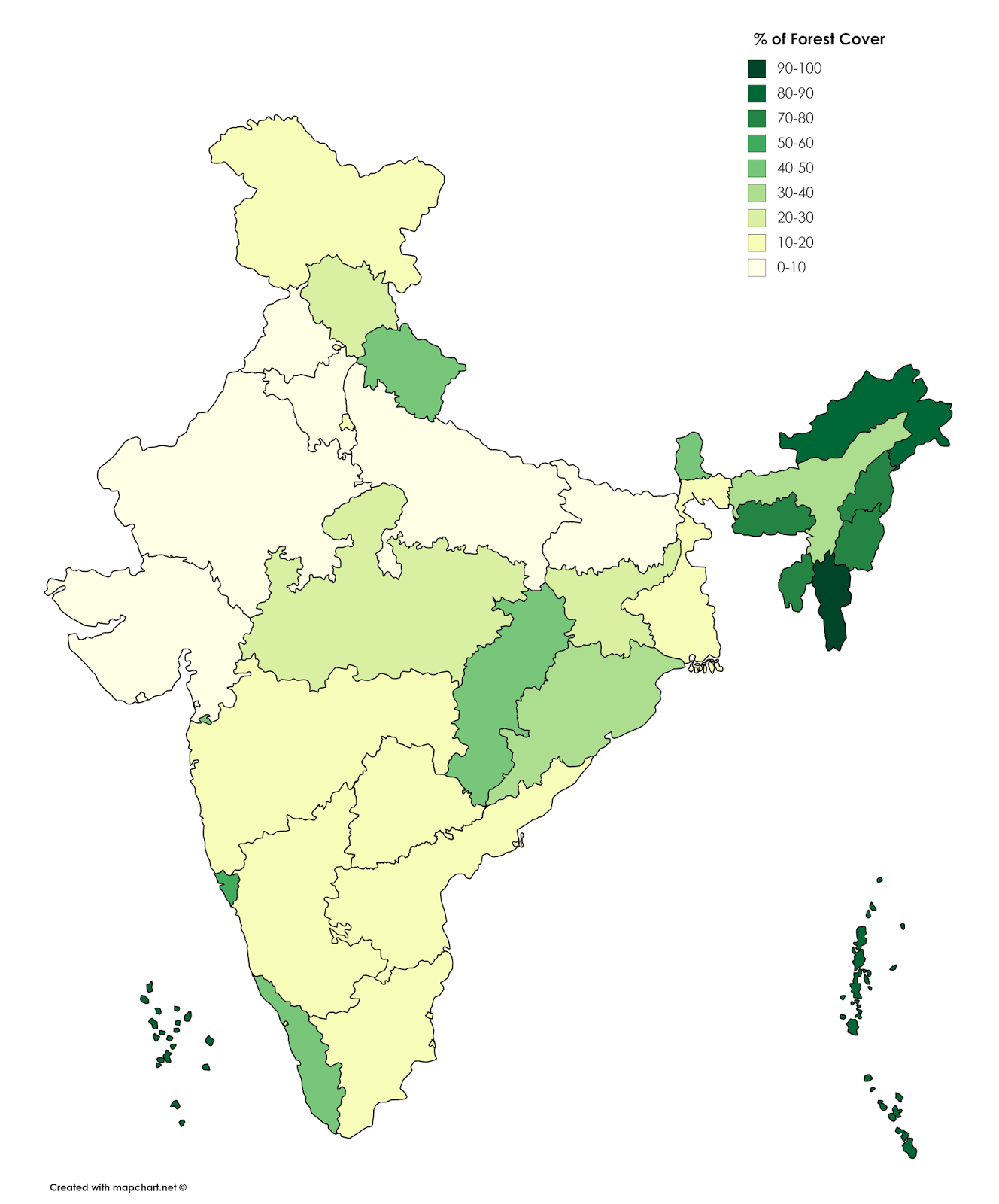 India By Of Forest Cover Vivid Maps India Map India Map