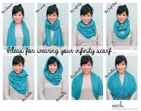 grey infinity scarf w snap buttons multiwear by shopmochi