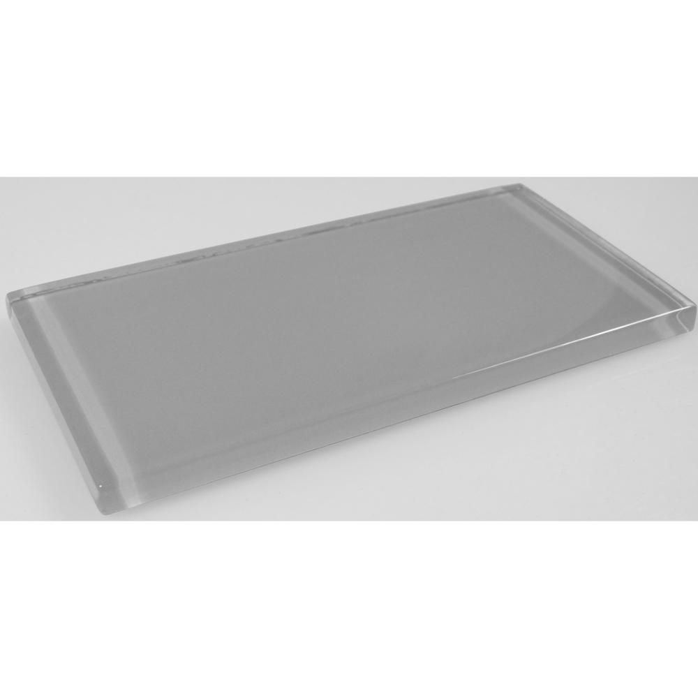 Abolos Metro Pebble Gray Subway 3 In X 6 In Glossy Wall