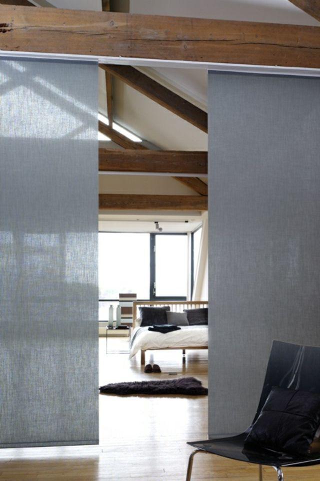 Panneaux Japonais Pour Une Ambiance D Interieur Unique Panel Blinds Home Home Decor