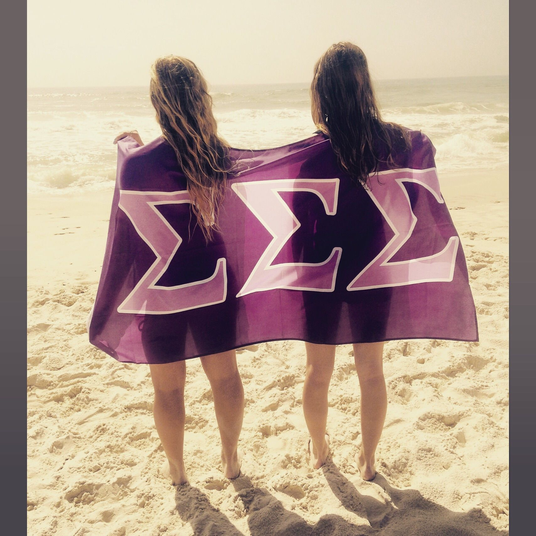Typical sorority beach picture. TSM.