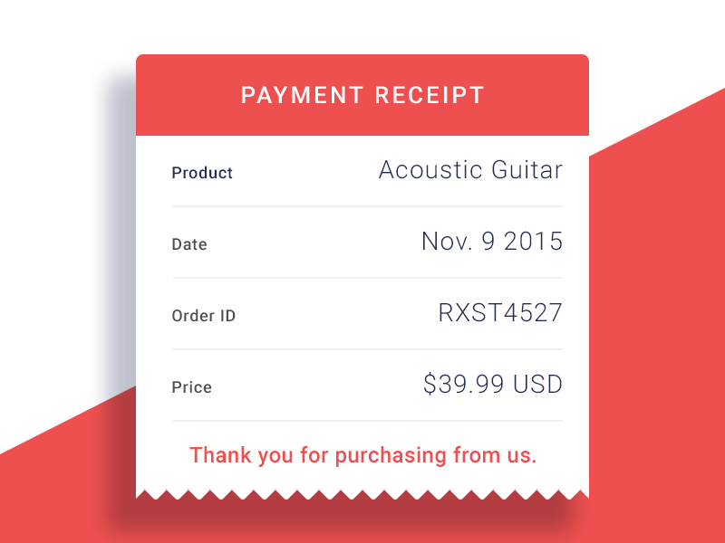 email receipt day 17 design inspiration pinterest ui ux email