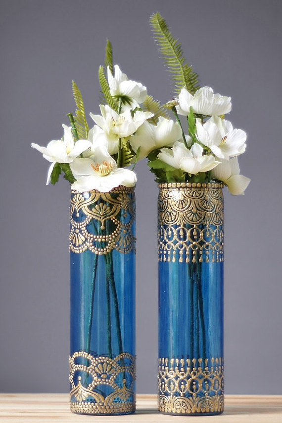 Henna bud vase set moroccan decor bohemian glass vase best selling items interior for Marokkanische dekoration