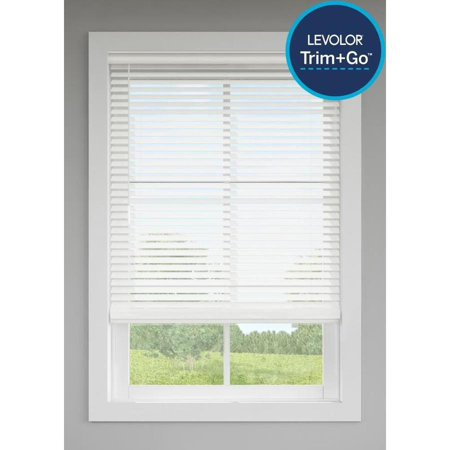 Levolor Trim Go 2 In Cordless White Faux Wood Room Darkening Blinds Common 39 In Actual 38 5 In X 64 In 2030436 In 2020 Room Darkening Blinds Faux Wood Blinds Blinds