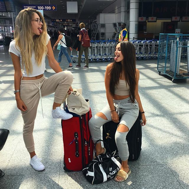 WEBSTA @ claudiatihan - departing from YUL to NCE with my girlfriend ❤️ #couplegoals