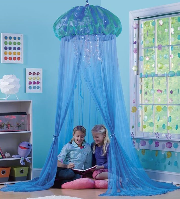 Aquaglow Light Up Jellyfish Hideaway Bed Canopy Kids