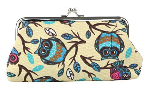 Micom Cute Owl Hasp Coin Purse Wallet for Women Vintage Clasp Clutch Cosmetic Bags