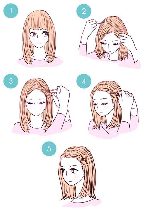Image Via We Heart It Cute Drawing Easy Hair Hairstyles Idea Pretty Quick Medium Length Hair Styles Medium Hair Styles Hair Tutorial