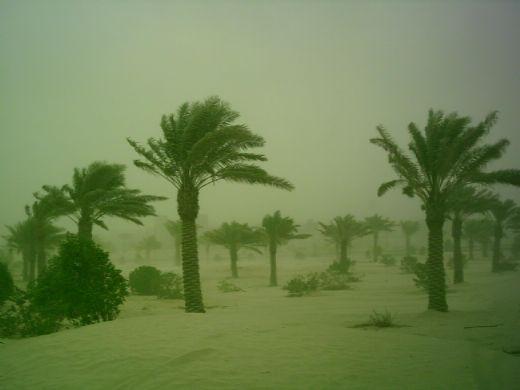 A sandstorm in Dhahran, Saudi Arabia