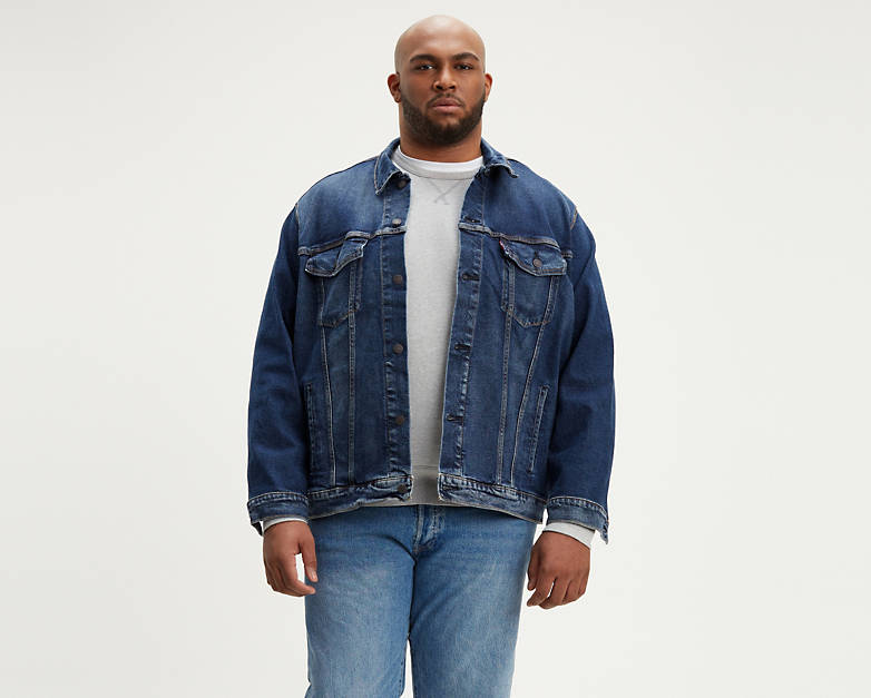 Trucker Jacket Big Dark Wash Shop Mens Jeans Jean Jacket Outfits Jacket Outfits