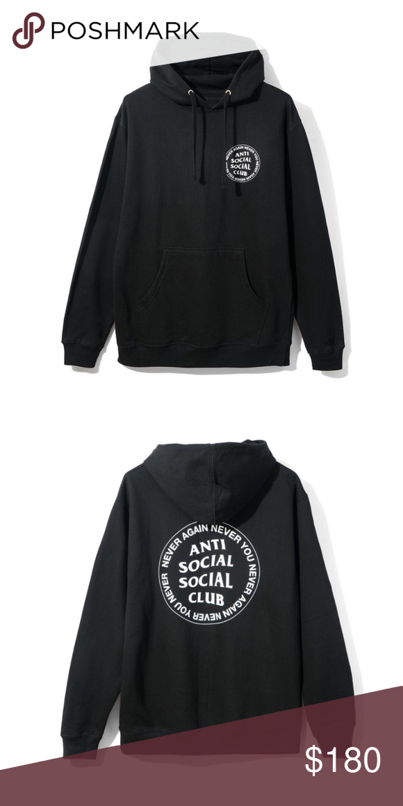 6264a56f8473 Authentic Anti Social Social Club Hoodie 100% Authentic Anti Social Social  Club   ASSC Never