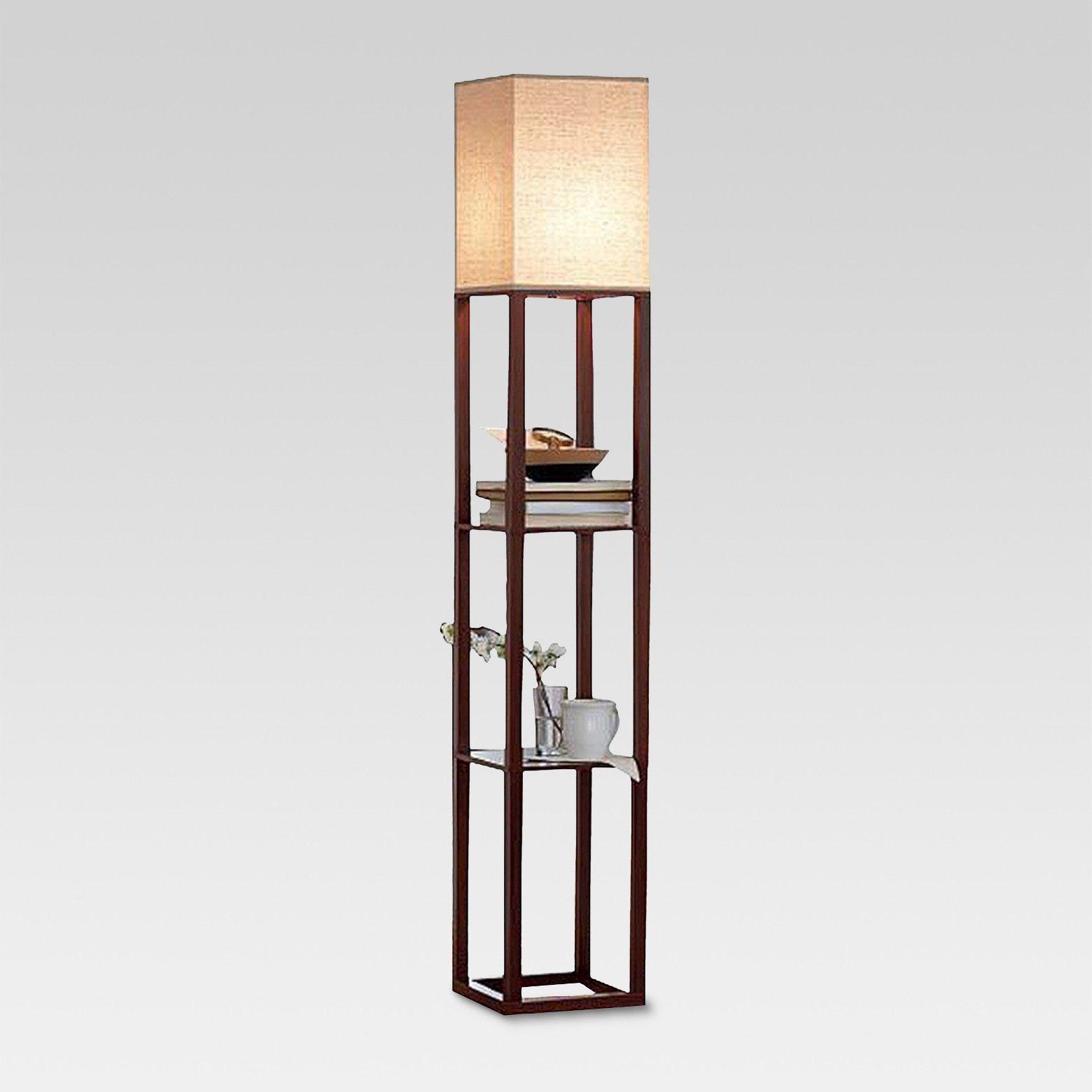 Shelf Floor Lamp Brown Threshold Floor Lamp With Shelves Shelf Lamp Black Floor Lamp