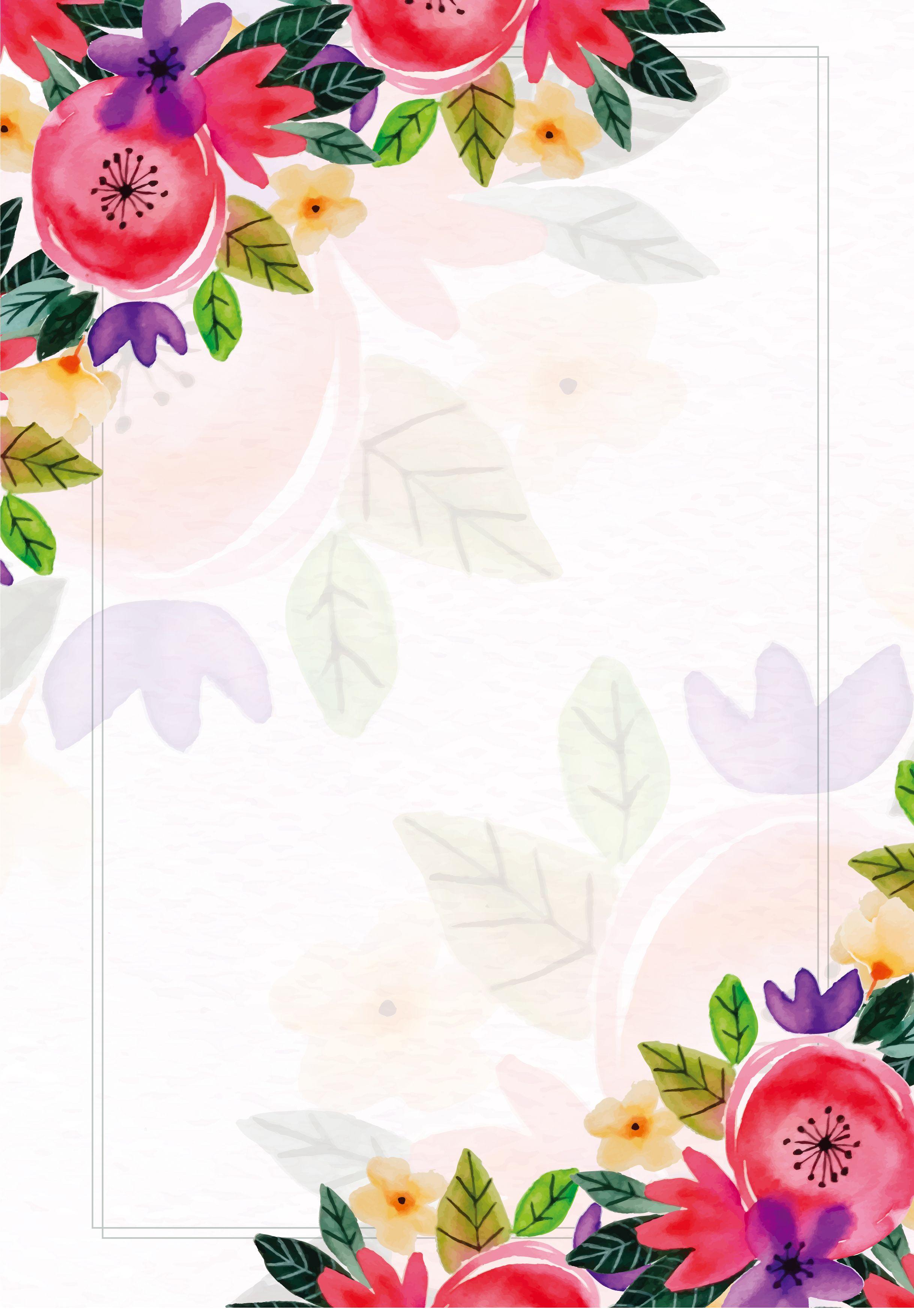 Simple Flowers Fresh Poster Background Con Imagenes Fondos De