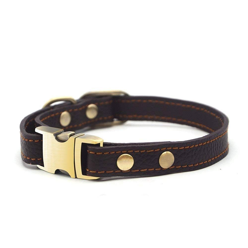 Wellbro Real Leather Dog Collar Adjustable And Durable Pet