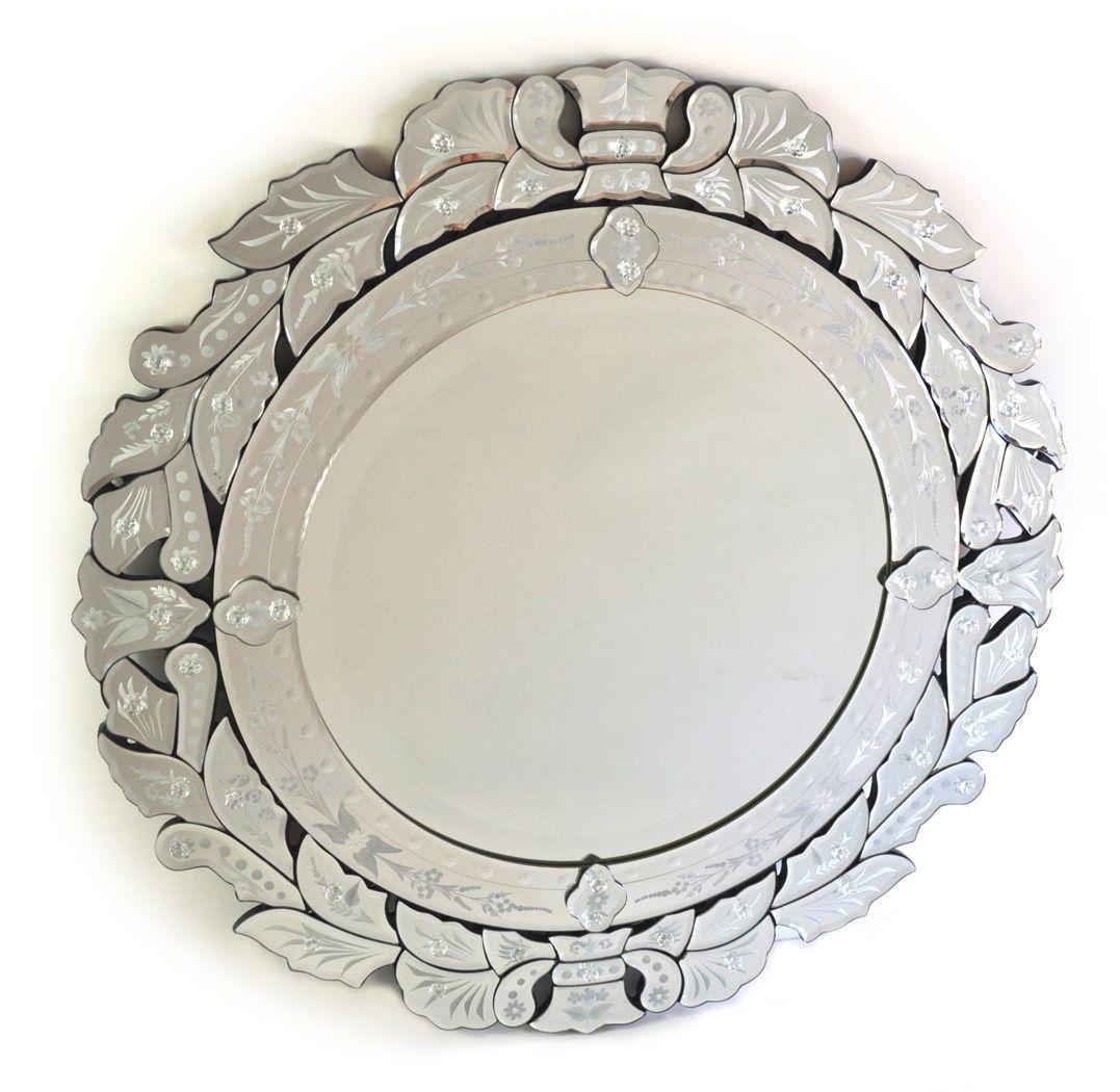 Alicia Round Mirror Mirrored furniture