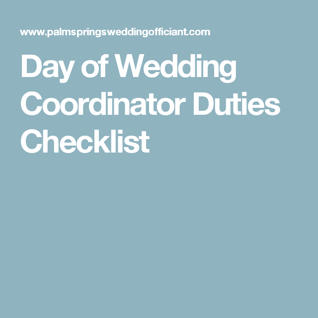 Day of wedding coordinator duties checklist wedding ideas day of wedding coordinator duties checklist rockwell catering and events junglespirit Image collections