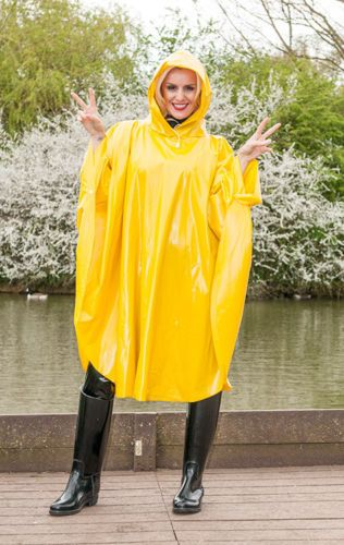 Yellow PVC Hooded Cape
