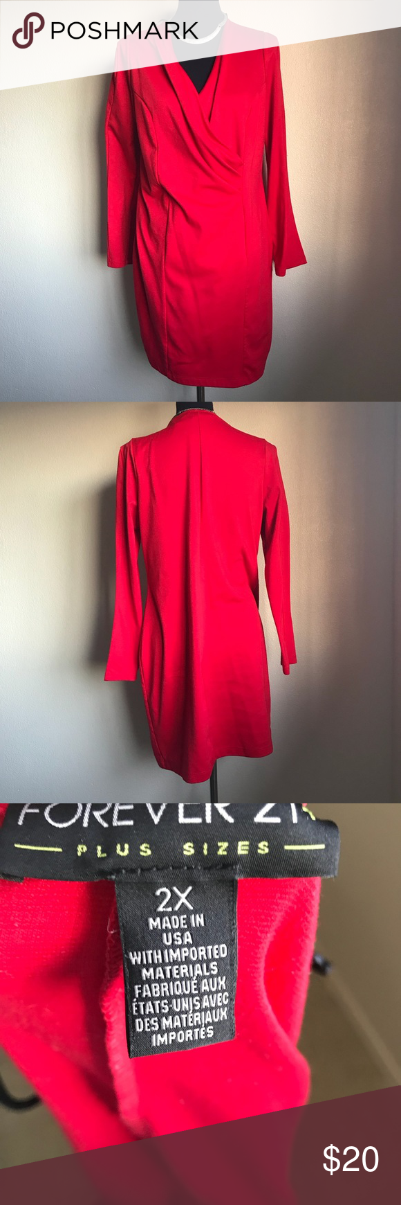 Wrap red dress long sleeves st dresses classy and wraps