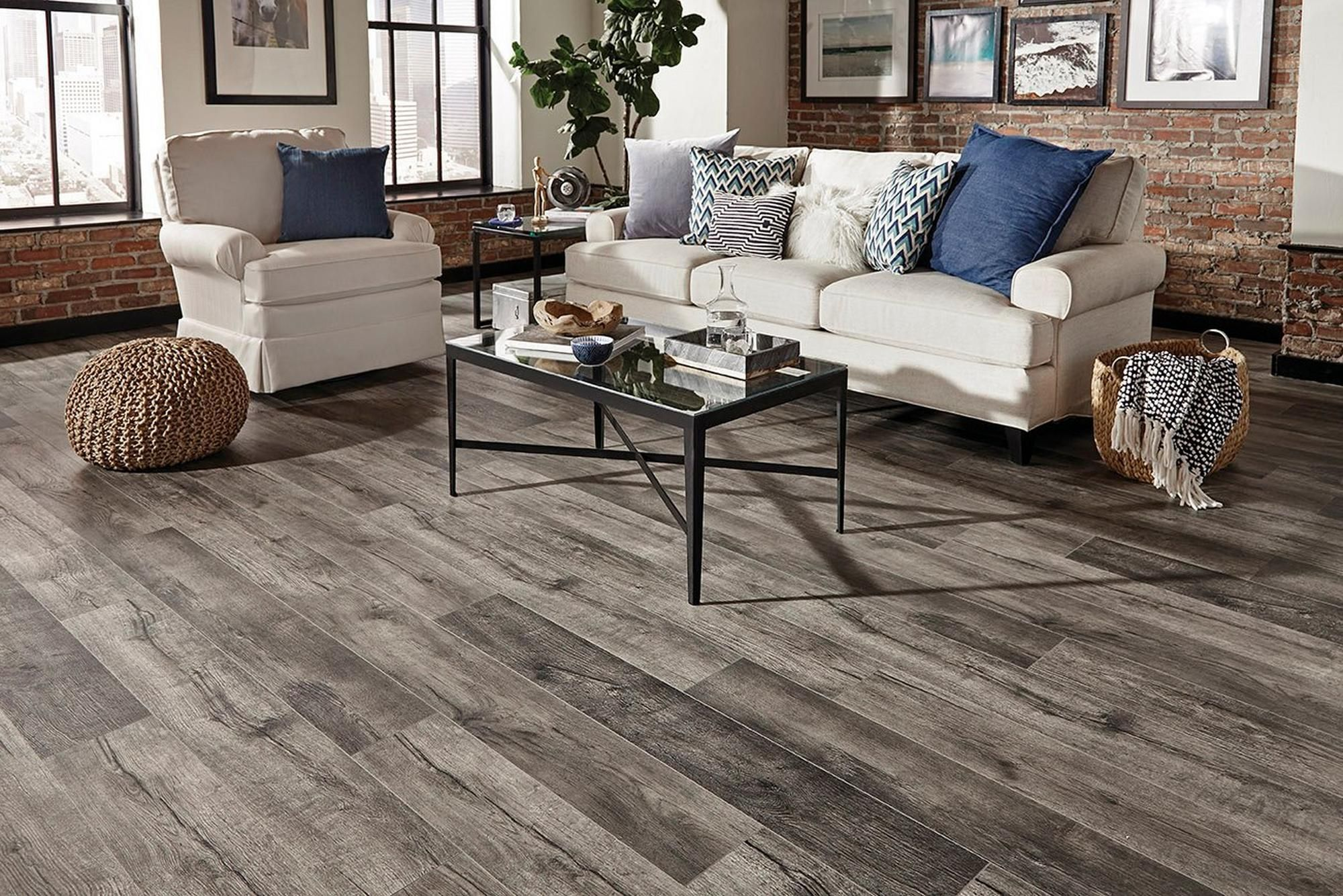 Stone Canyon Oak Water Resistant Laminate Floor Decor Luxury Vinyl Plank Home