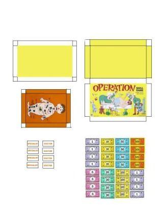 miniature printables operation game v crafts miniature rh pinterest com Colonial Dollhouse Printable Dart Boards Dollhouse Printable Console Games