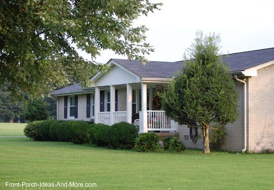 Elegant Classic Ranch Home With A Front Porch Gable Style Roof   Front Porch Ideas Awesome Design