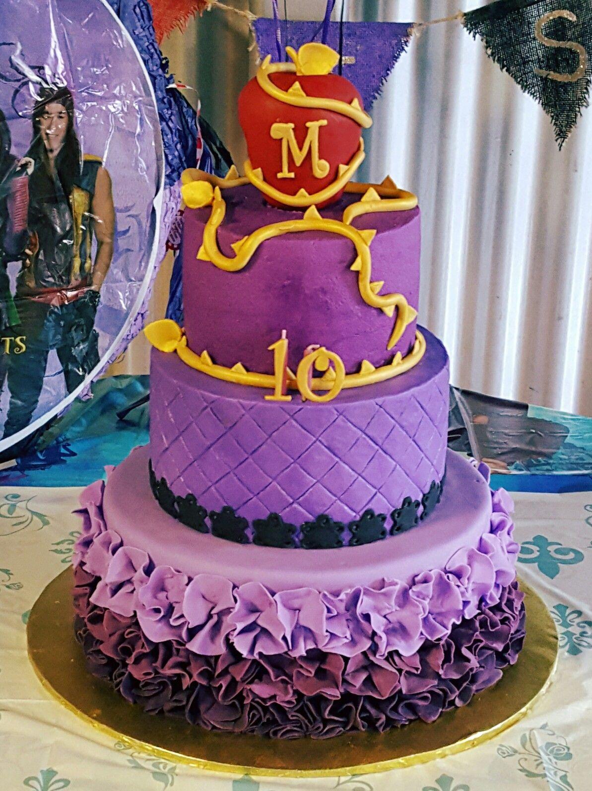 Disney descendants birthday cake cake birthday cake