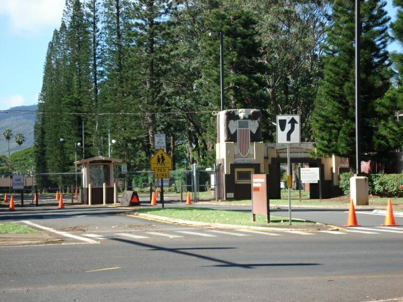 Our Entrance And Exit To Army Base Where The Army Boys Would Check Us In To Our House Us Army Infantry Schofield Barracks Army Life