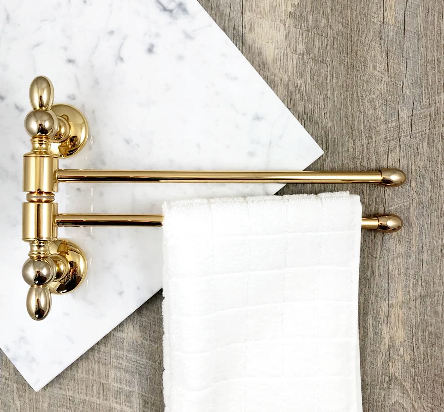 Accessori Dorati Per Bagno.Porta Salviette Da Bidet Snodato Ottone Colore Oro Gold Style For Bathroom Stile Classico Per Bagno Bagno Artigianale Bidet Accessori Da Bagno